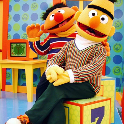 Hello Bert! Hello Ernie! #Throwback to
