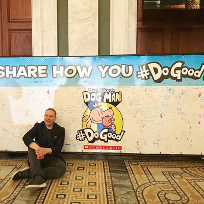 Last Friday, Dog Man fans highlighted their awesome illustration skills at Dav Pilkey's appearance at the Library of Congress in Washington D.C. ✏️ @ Library of Congress
